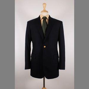 Brooks Brothers 39L Navy Sport Coat B583